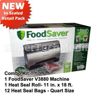 FoodSaver V3880 Food Saver Vacuum Sealer Kit with Seal Roll Bag