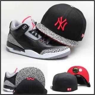 New Era New York Yankees Custom Fitted Hat for Air Jordan Retro 3