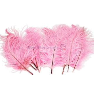 New Pink 10pcs 10 12 inch Ostrich Feathers Optional Colors Wedding