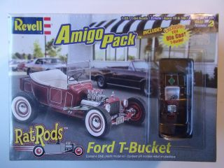 FORD T BUCKET Rat Rod w DIECAST Model Kit SEALED 1 25 REVELL 2002