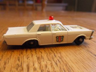 Moko Lesney Matchbox 55c Ford Galaxie Police Super Nice Clean Car Some