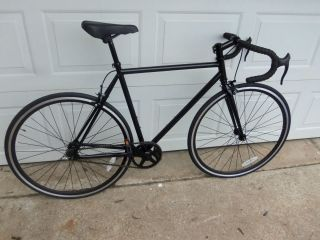 New 54cm Track Fixed Gear Bicycle Single Speed Road Bike Blk LOCAL