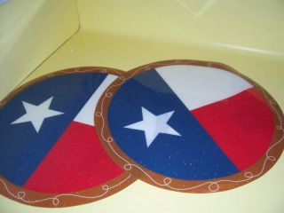 Two New Vinyl Texas Flag Placemats Lone Star Decor