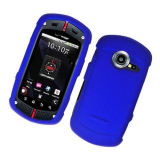 For Casio GZone Commando C771 Rubberized Case Blue New