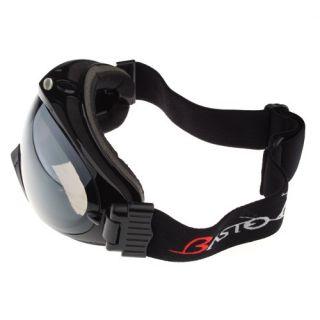 Basto Anti Fog Dual Lens Sport Ski Snowboard Goggles Black Frame