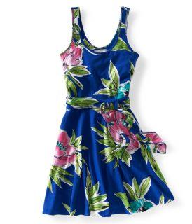 Aeropostale Womens Floral Circle Knit Dress