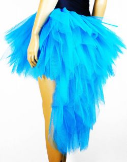 Peacock Flo Blue Burlesque Moulin Rouge Carnival Dress Up Costume Show