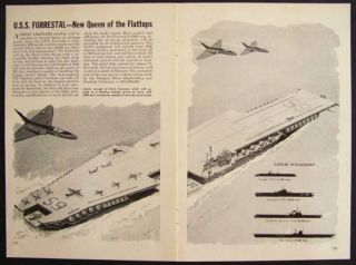 USS Forrestal Aircraft Carrier 1951 Concept Pictorial
