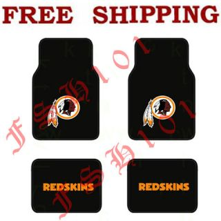 New NFL Washington Redskins Carpet Floor Mats for Car / Truck / SUV