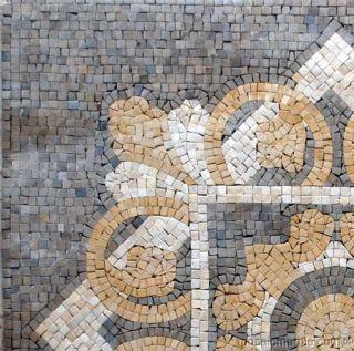 Geometric Design Mosaic Floor Inlay Home Decor Art Tile