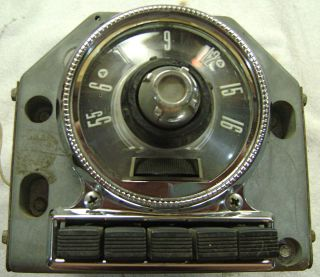 Ford Radio Car Truck 6 Tube 6 Volt in Dash Model 5MF with Bezel