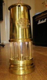 BRASS MINERS LAMP FERNDALE COAL MINING COMPLETELY RESTORED WELSH