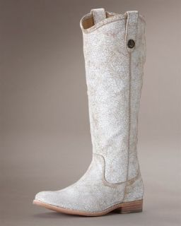 328 FRYE MELISSA BUTTON PULL ON RIDING BOOTS SIZE 9 5 RARE RARE