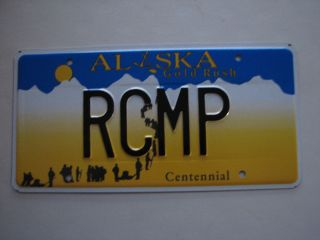 ALASKA VANITY License Plate RCMP POLICE CANADA ROYAL CANADIAN MOUNTIES
