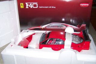 Kyosho 1 12 Ferrari F40 Lightweight LM Wing Red