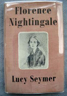 Florence Nightingale by Lucy Seymer 1st 1950 HC DJ Biography Nursing