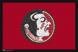 florida state seminoles fight song ncaa logo poster