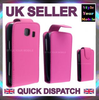 Corby 2 S3850 Stylish Smooth Pink Flip Leather Case Cover