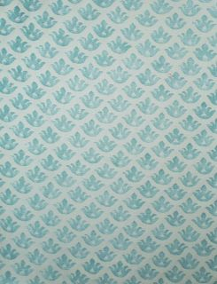 FORTUNY Fabric Canastrelli French Blue White Cotton Venice Italy New