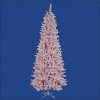 Vickerman Flocked Pink Spruce 108 Artificial Christmas Tree w LED