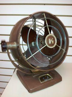 Vintage KENMORE Portable Floor Fan 3 speed WORKING MUST SEE Brass