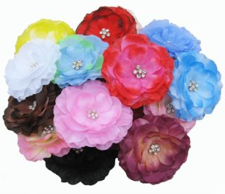 Girls Baby Woman Cute Flower Hair Bow Clip Brooch Party Wedding