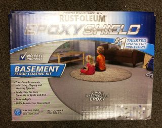 New Epoxy Shield Basement Floor Coating Kit in Gray Satin