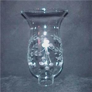 Clear Cut Glass Hurricane Lamp Shade 1 11 16 x 8 Floral