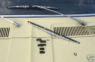 Fiat 128 130 132 x1 9 x 1 9 Wiper Blades Silver New