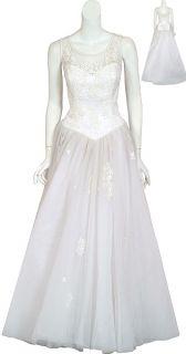 Eva Haynal Forsyth Tulle Bridal Wedding Gown 12 New