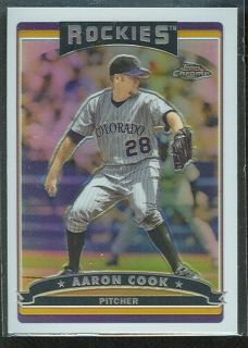 Colorado Rockies Born in Fort Campbell Kentucky Aaron Cook Refractor