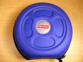 Fisher Price Kid Tough Hard Shell Music Player FP3 CD Zipper Case Blue