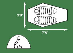 Saguaro Bivy Tent Camping Backpacking Hike 2 Person