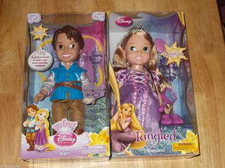 Disney Princess Tangled Rapunzel Flynn Rider 15 Toddler Dolls