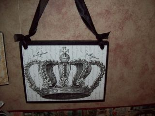 Paris Decor Crown Plaque Sign French Decor Wall Hanging