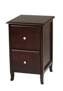 Eco Friendly Wood Merlot 2 Drawer File Storage Cabinet