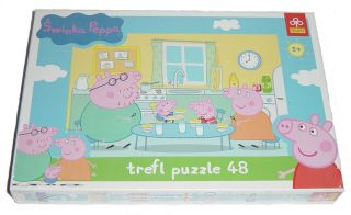 this peppa pig puzzle comprises of 48 pieces