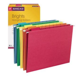 Smead Hanging File Folders Letter 1 5 Cut Tab Assorted Primary Colors