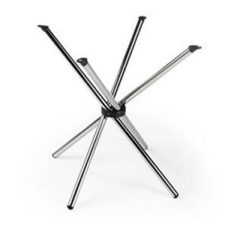 Metal Polished Chrome Kitchen or Dining Table Base Only Folds