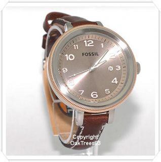 Fossil Womens Bridgette Brown Leatehr Watch AM4304