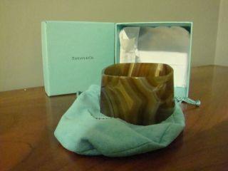 Frank Gehry for Tiffanys Torque Agate Bracelet Cuff