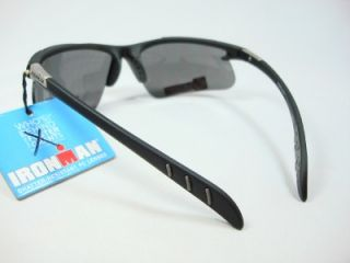 Foster Grant Iron Man Black sports sunglasses Hurdle EG1210 New