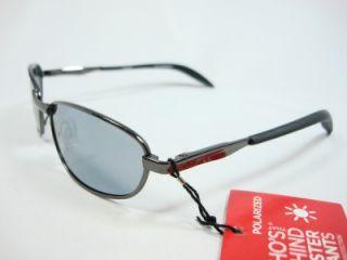 Foster Grant Gray Black Polarized Sunglasses Core New Sun
