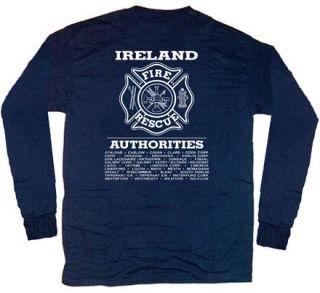 Ireland Fire Rescue Irish T Shirt 4XL Long Sleeves