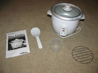 SALTON RA3A 3 CUP AUTOMATIC RICE COOKER FOOD VEGETABLE STEAMER