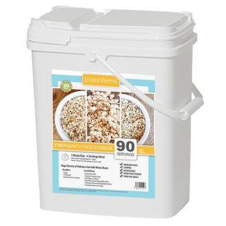 90 Serving Freeze Dried Emergency Food Storage Grab N Go Bucket