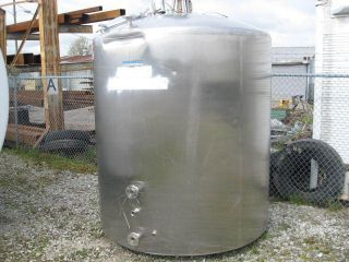 1000 Gallon Stainless Steel Refrigerated Food Storage Tank Double Wall