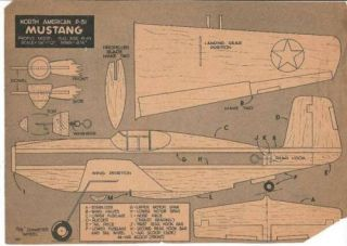 North American P 51 Mustang Plans Assembly Instructions