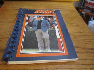 1991 Auburn University Tigers Football Media Guide Spiral