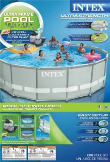 INTEX 16 x 48 Ultra Frame Swimming Pool Set w/ 1200 GPH Sand Filter